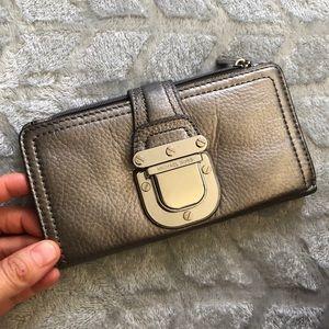 Michael Kors metallic leather wallet